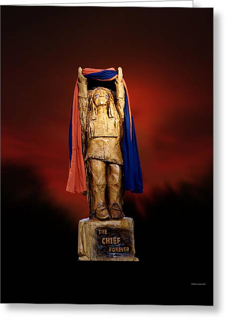 Central Il Greeting Cards - Chief Illiniwek University of Illinois 06 Greeting Card by Thomas Woolworth