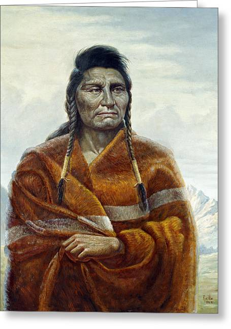 Noble Greeting Cards - Chief Joseph Greeting Card by Gregory Perillo