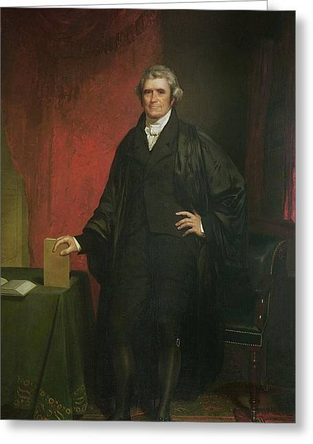 Full-length Portrait Paintings Greeting Cards - Chief Justice Marshall Greeting Card by Chester Harding