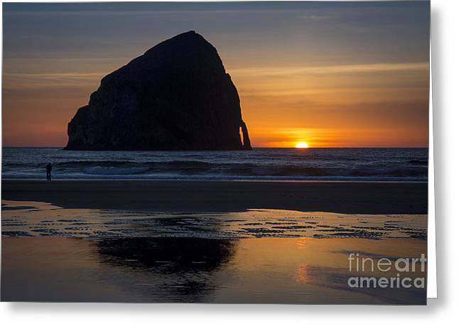 Surf Silhouette Greeting Cards - Chief Kiawanda Rock Greeting Card by Brian Jannsen