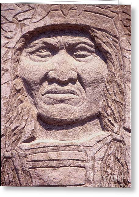 Iron Sculptures Greeting Cards - Chief-Kicking-Bird Greeting Card by Gordon Punt
