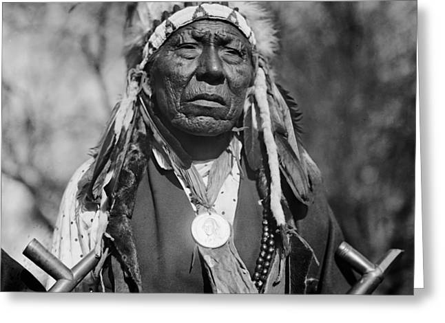 Native American Leaders Photographs Greeting Cards - Chief Mad Bull of the Cheyenne Greeting Card by Mountain Dreams
