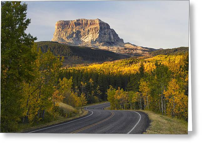 Mountain Road Greeting Cards - Chief Mountain Highway Greeting Card by Mark Kiver