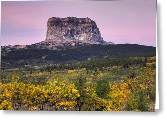 Beauty Mark Greeting Cards - Chief Mountain Sunrise Greeting Card by Mark Kiver