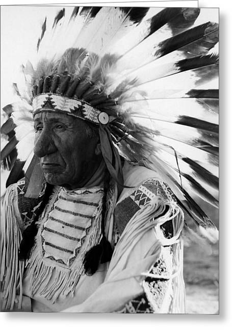 Lakota Greeting Cards - Chief Red Cloud Greeting Card by War Is Hell Store