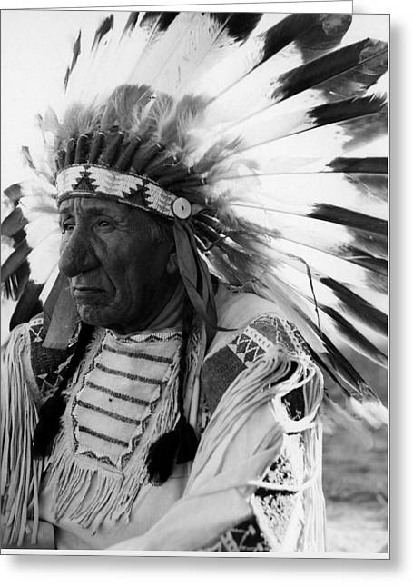 Oglala Greeting Cards - Chief Red Cloud Greeting Card by War Is Hell Store