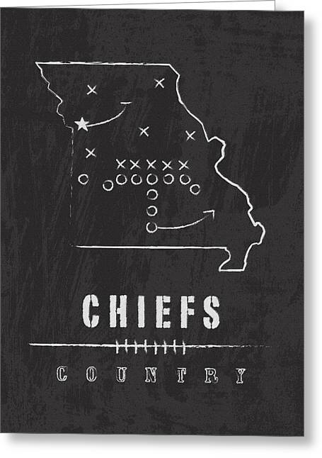 Pro Football Digital Greeting Cards - Chiefs Country 2 Greeting Card by Damon Gray