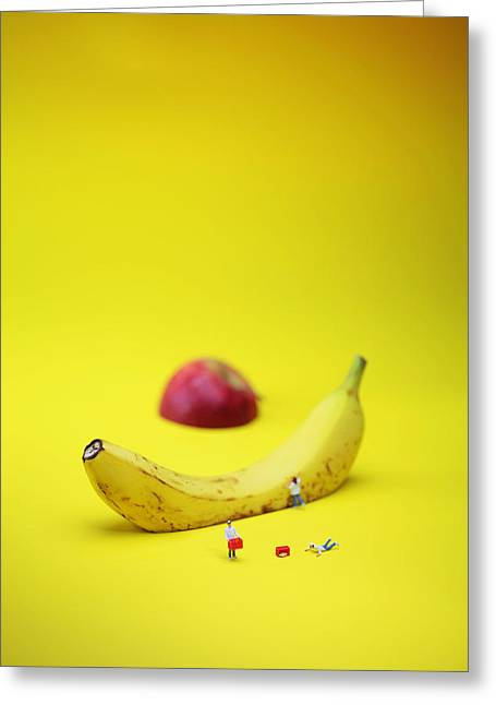 Creative People Greeting Cards - Chiefs working among sliced fruits Greeting Card by Paul Ge
