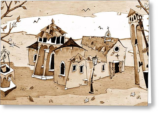 Book Cover Art Greeting Cards - Chiesa San Giacomo dallOrio Italia Greeting Card by Arte Venezia