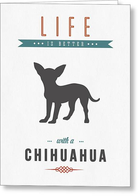 Chihuahuas Greeting Cards - Chihuahua 01 Greeting Card by Aged Pixel