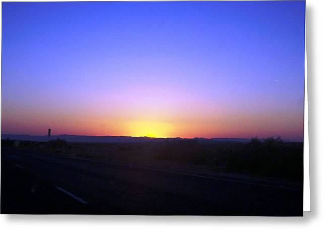 Gypsy Greeting Cards - Chihuahua Desert Sunset Greeting Card by The GYPSY And DEBBIE