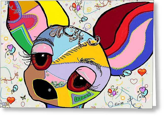 Toy Dog Greeting Cards - Chihuahua Greeting Card by Eloise Schneider