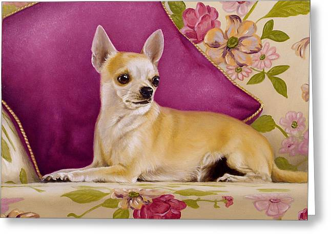 Chihuahua II Greeting Card by John Silver