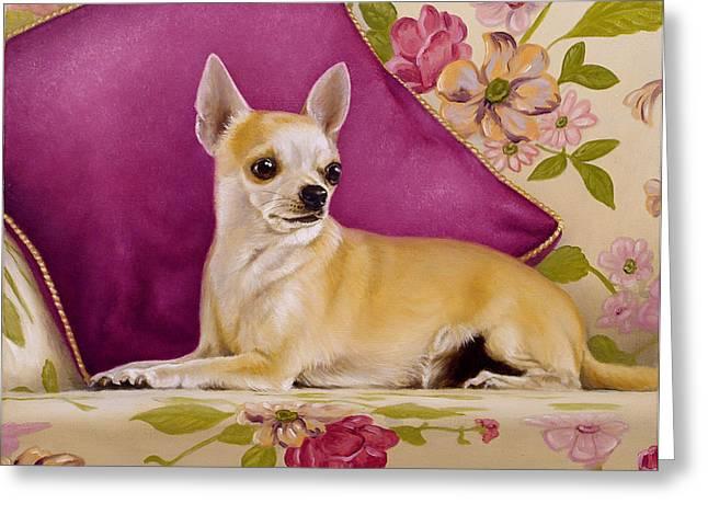 Chihuahua II Greeting Card by John Silver
