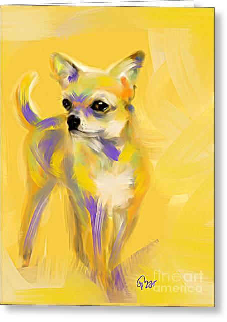 Chihuahua Josh Greeting Card by Go Van Kampen