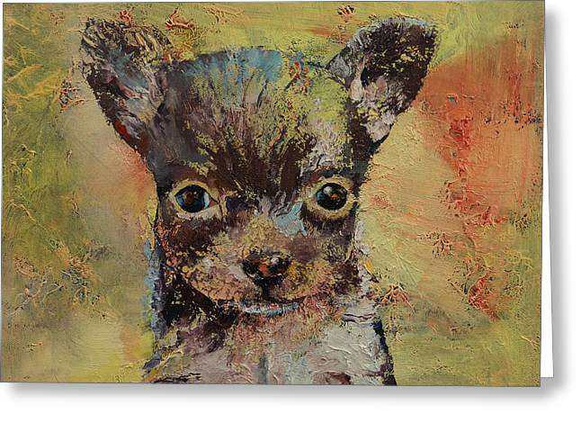 Chihuahua Portraits Greeting Cards - Chihuahua Greeting Card by Michael Creese