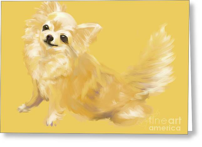 Dog Chihuahua Sandy Greeting Card by Go Van Kampen