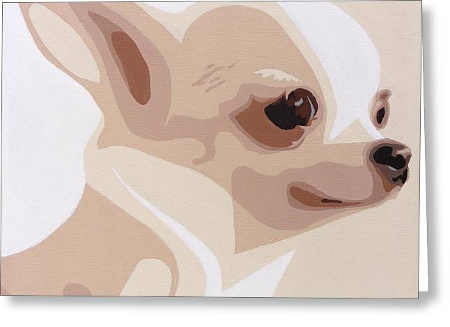 Toy Dogs Paintings Greeting Cards - Chihuahua Greeting Card by Slade Roberts