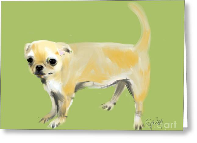 Chihuahua Abstract Art Greeting Cards - Chihuahua Harry Greeting Card by Go Van Kampen