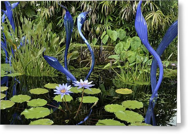 Chihuly Glass Greeting Cards - Chihuly at Fairchild Greeting Card by Bryn Hafemeister
