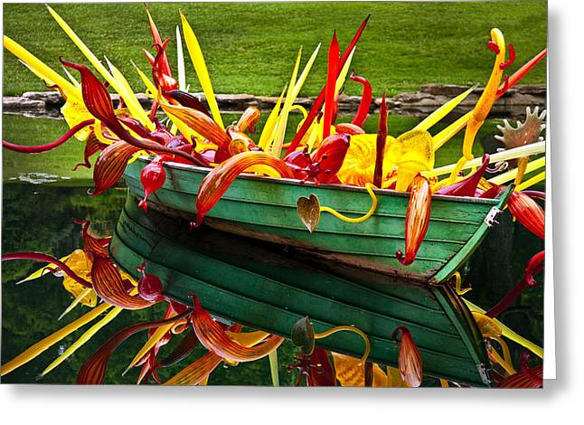 Cheekwood Greeting Cards - Chihuly Boat Greeting Card by Diana Powell
