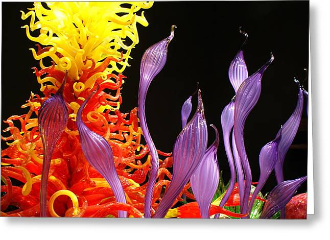 Glass Garden Greeting Cards - Chihuly Garden Greeting Card by Justin  Curry