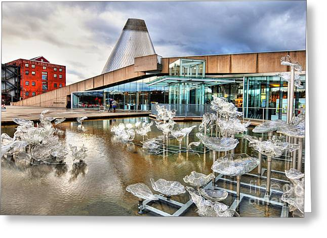 """glass Museum"" Greeting Cards - Museum of Glass Tacoma Wa Greeting Card by Ken Andersen"
