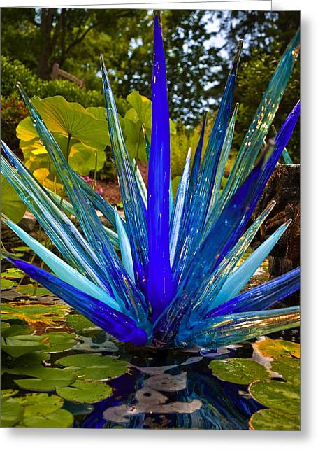 Cheekwood Greeting Cards - Chihuly Lily Pond Greeting Card by Diana Powell