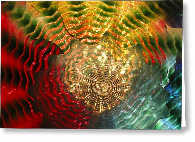 Glasswork Greeting Cards - Chihuly up close Greeting Card by Traci Eagle