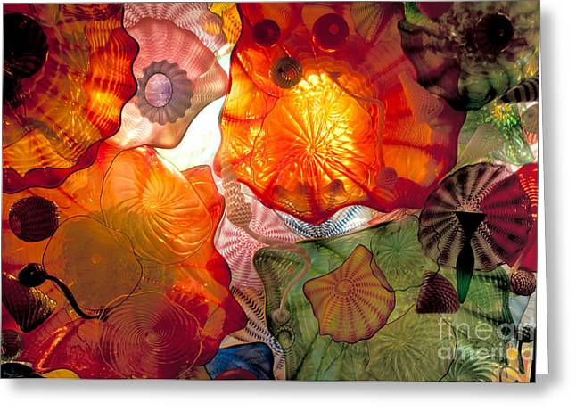 """glass Museum"" Greeting Cards - Chihulys Seaform Pavilion At Night Greeting Card by Mark Newman"