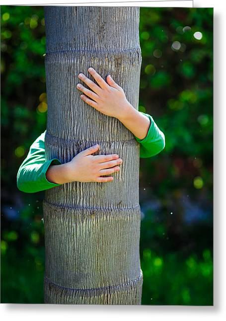Child And Tree Greeting Card by Desislava Panteva
