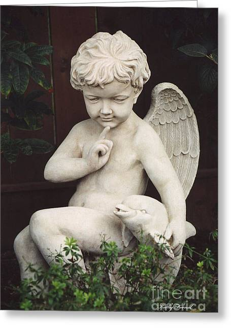 Ethereal Angel Art Greeting Cards - Child Angel Art - Little Boy Angel Art With Dolphin - Angel Child Photography Greeting Card by Kathy Fornal