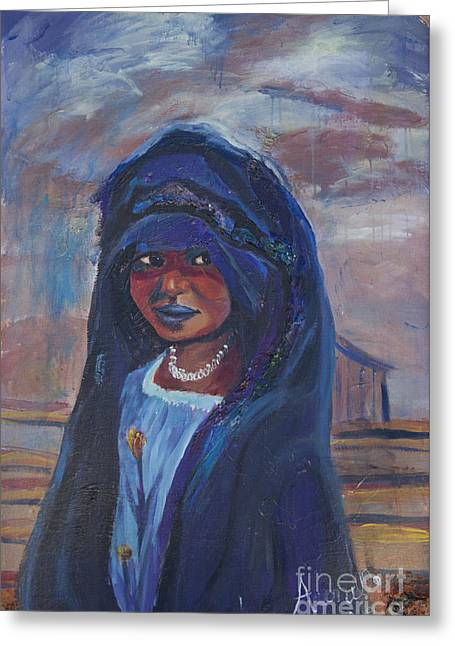 Child Bride Of The Sahara Greeting Card by Avonelle Kelsey