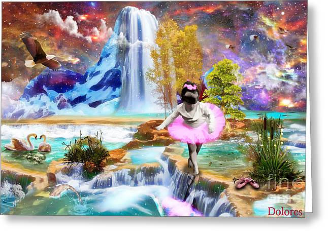 Tutu Digital Art Greeting Cards - Child like Faith Greeting Card by Dolores Develde
