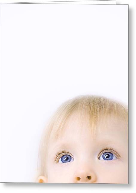 2-3 Years Greeting Cards - Child Looking Up Greeting Card by Chris and Kate Knorr