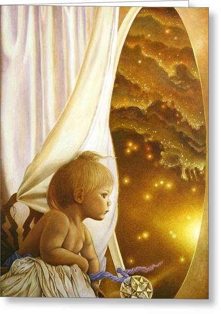 Innocence Child Greeting Cards - Child of Wonder Greeting Card by Michael Z Tyree