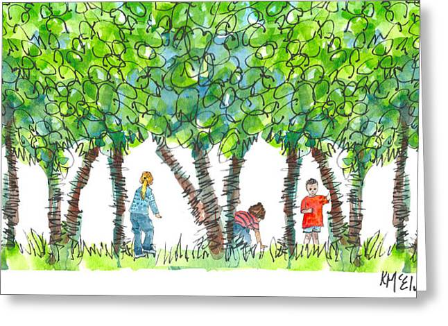 Kathleen Greeting Cards - Child Play Greeting Card by Kathleen McElwaine