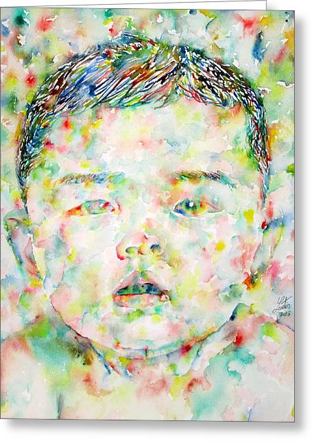 Chinese Newborn Greeting Cards - Child Portrait Greeting Card by Fabrizio Cassetta