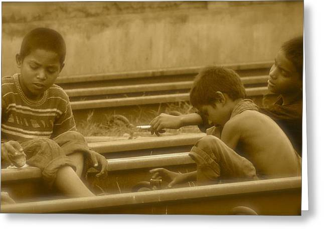 Underage Greeting Cards - Child smoker  Greeting Card by Masum Rumi