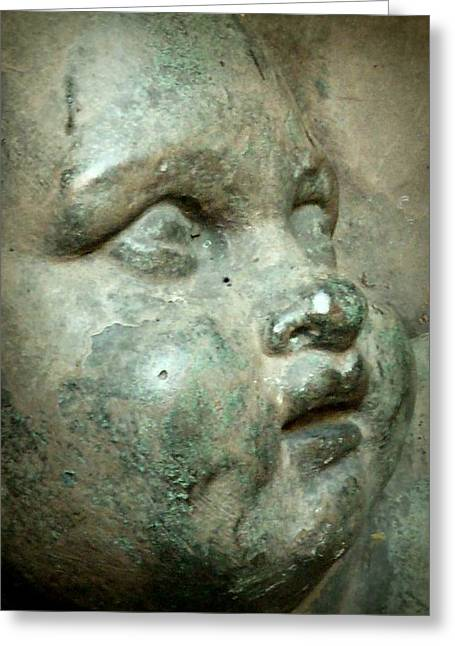 Sculptural Decoration Greeting Cards - Child Statue Detail Greeting Card by Patricia Strand