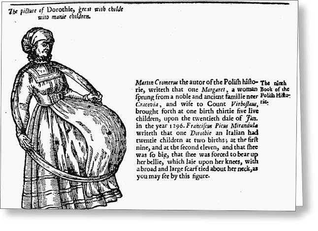 Childbirth Anomalies Greeting Card by Granger