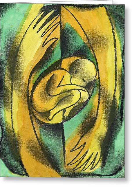 Creating Greeting Cards - Childbirth Greeting Card by Leon Zernitsky