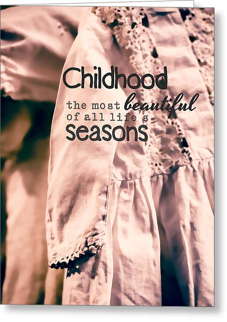 Granddaughter Greeting Cards - Childhood Greeting Card by Bonnie Bruno