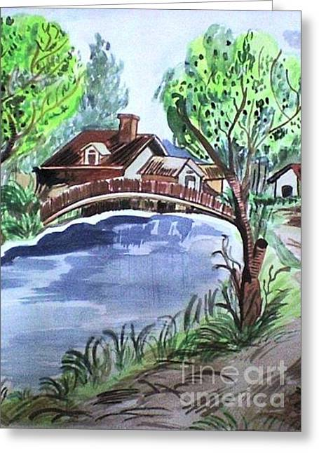 Childhood Dream Greeting Card by Jyoti Vats
