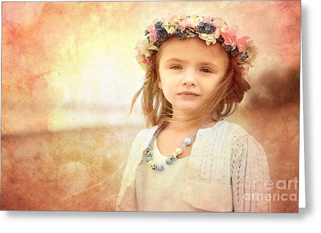 Children Digital Art Greeting Cards - Childhood Dreams Greeting Card by Cindy Singleton