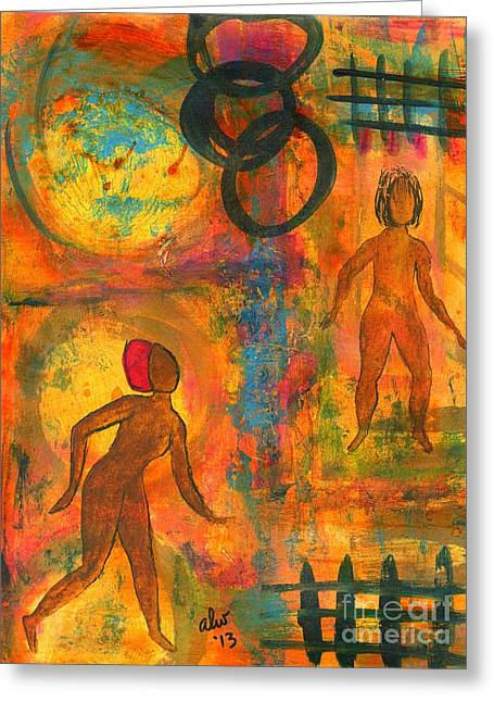Survivor Art Greeting Cards - Childhood Friends - I Remember You Greeting Card by Angela L Walker
