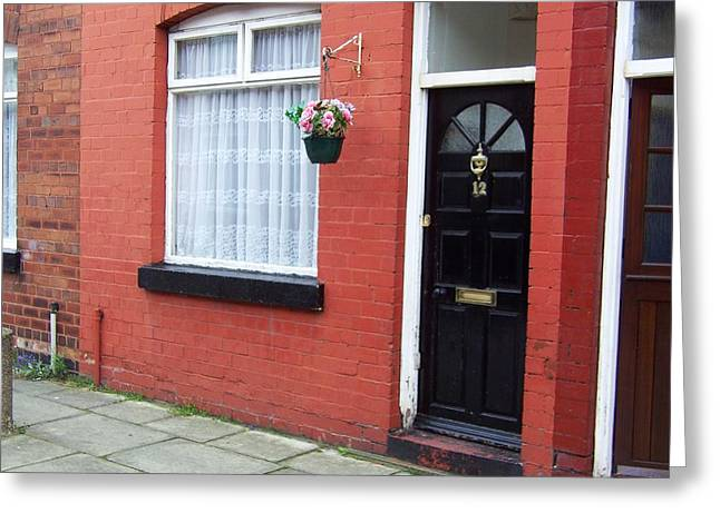Sgt Pepper Photographs Greeting Cards - Childhood home of George Harrison Liverpool UK Greeting Card by Steve Kearns
