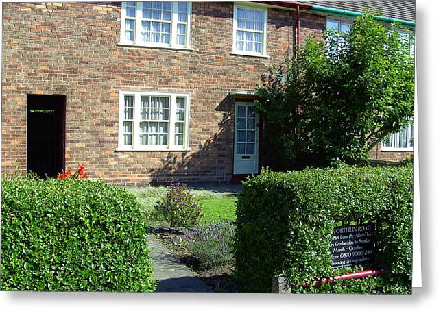Sgt Pepper Photographs Greeting Cards - Childhood home of Paul McCartney Liverpool UK Greeting Card by Steve Kearns