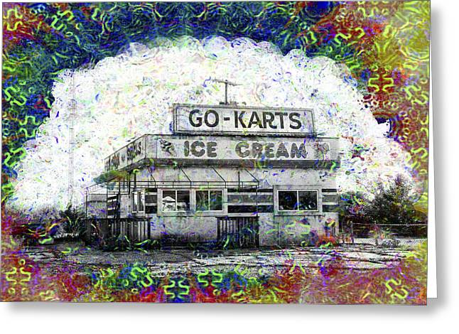 Go Cart Greeting Cards - Childhood Memories Greeting Card by Bill Cannon