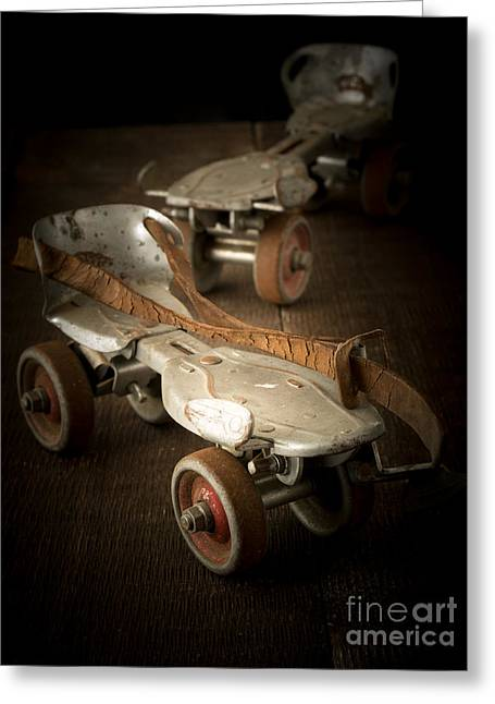 Roller Skates Greeting Cards - Childhood Memories Greeting Card by Edward Fielding